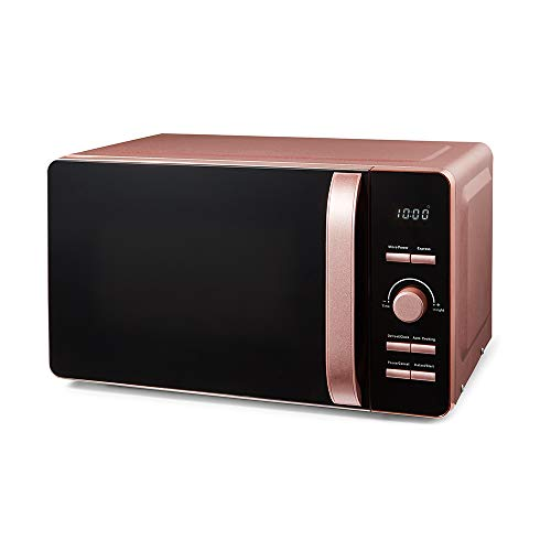 Tower T24021PS Glitz 20 Litre Digital Microwave, Glass Turntable, 6 Power Settings, 800 W, Pink