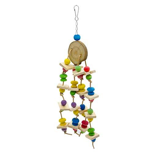Bloque de pájaros, bloque de pájaros, juguete de loro, juguete de jaula de pájaros, accesorio de madera para mordeduras
