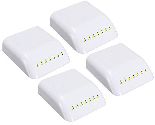 SPTwj Confezione da 4 luci Armadio con sensore a LED per armadio da cucina per soggiorno camera da letto - Luci notturne per armadio