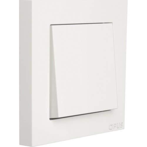 OPUS® 55 Kubus Abdeckrahmen Ausführung 1-fach, Farbe polarweiß