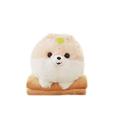 lanfire Super Cute 1pieza 30x 40cm Creative Cartoon almohada de Pomerania de perro de peluche con manta Insider (100x 170cm) niños regalo de cumpleaños