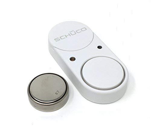 SCHÜCO SoundGuard Glasbruchmelder-Einbruchschutz vom Marken Hersteller für mehr Sicherheit im eigenen Heim/extrem lauter 100dB Alarm bei Glasbruch bzw. Erschütterung/Fenstersicherung/Einbruchsicherung