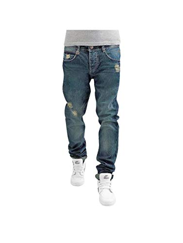 Sky Rebel Herren Straight Fit Jeans blau W 32 L 34