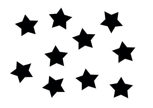 Miniblings 10x Bügelbilder Aufnäher 25mm GLATT Stern schwarz Patch Bügelbild I Kinder Bügelflicken Patches zum Aufbügeln - Flexfolie - Applikation Nähen