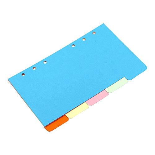 1PC Farbpalette Binder Ordner Divider Document Organizer Trennseiten Beschriften Karten-Papier Mini Binder Ordner Zubehör A6 Typ Taschen