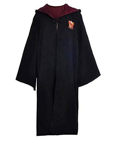Mitef Harry Potter Disfraz De Unisex Gryffindor Ravenclaw Slytherin Hufflepuff Costume Accesorios Gafas + Corbata Cosplay para Adulto, Rojo, XXL