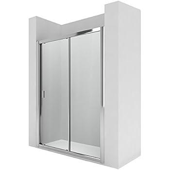 Roca AM13719012 - Mampara de ducha con dos puertas correderas y dos segmentos fijos. para instalar entre paredes o con un lateral fijo lf.: Amazon.es: Bricolaje y herramientas