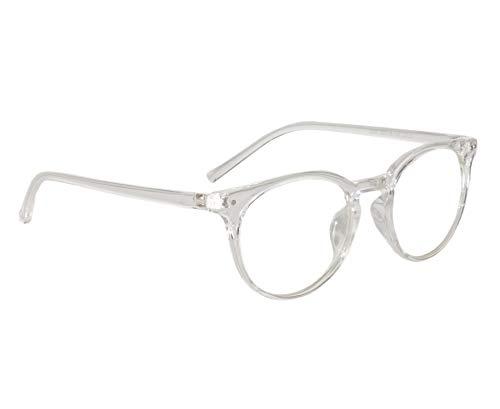 Peter Jones Transparent Unisex Medium Round Optical Frame (2283W)
