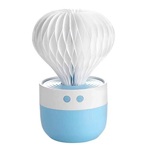 VROSE FLOSI Mini USB 7 Farbe Lichter Aroma Diffuser 35ML Luftbefeuchter Ätherisches Öl Diffusor Room Decor mit Nachtlicht für Office Home Spa Yoga (blau)