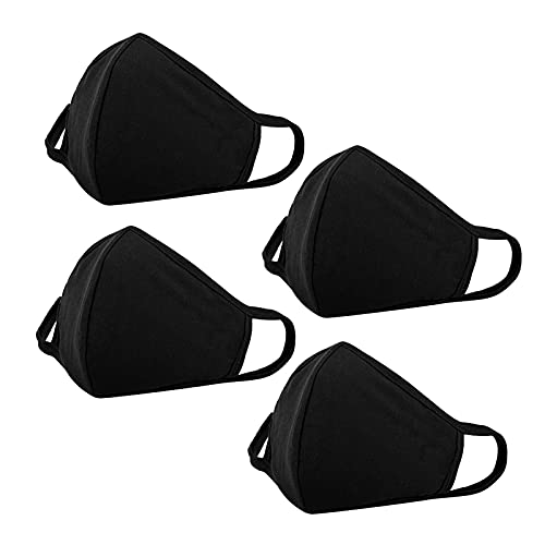 Washable Face Protection with Nose Wire to Adjust - Reusable Mouth Dustproof Protection - Breathable Soft Cloth Face Protections Elastic Ear Straps