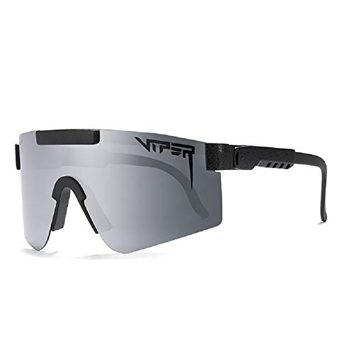 VBNHGF Gafas de sol Pit Viper para hombre, ciclismo, bicicleta, protección UV400 con doble polarización