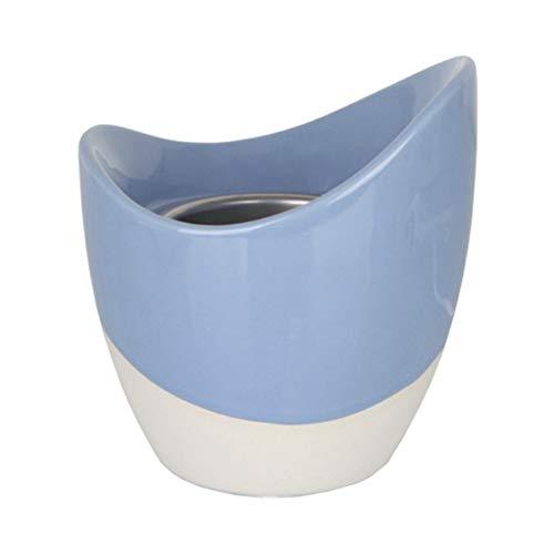 YANKEE CANDLE 1542999 Scenterpiece Skye-bruciatore électrique avec minuteur, céramique, Bleu, 19.7 x 19.5 x 22,8 cm