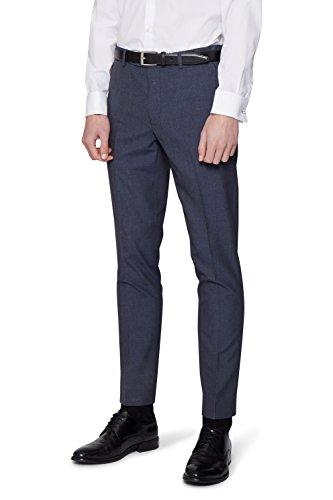 Moss London Men's Slim Fit Blue Sharkskin Suit Pants 36S
