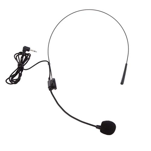 SODIAL Volver Electret Microfono De Diadema Unidireccional con Enchufe...