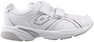 Lotto Multi-Trainer Y NO LACE Boys Road Running Shoes, White, 12 US