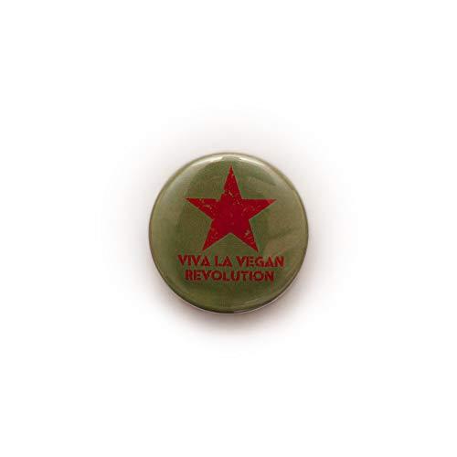 Veganer Button Pin Anstecker – Veggie Peace Zeichen Tier – Pick and Mix oder Geschenkset Gr. Einheitsgröße, Vegan Revolution