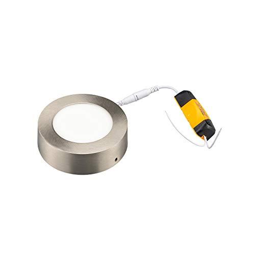 POPP®Plafón LED Downlight Circular 6W 12W 18W 24W Niquel Superficie elegante diseño...