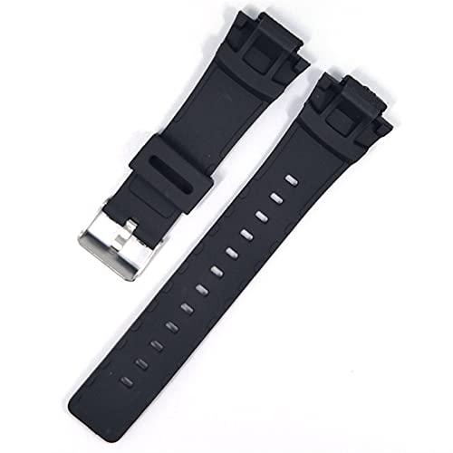 CGGA Correa de reloj impermeable de silicona negra para G-Shock G100 G-100 Sport reemplazo de goma de reloj accesorios