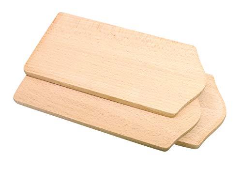 Unbeschriebene Frühstücksbrettchen 22 x 10,5 x 1 cm, 3 Stück, aus Holz, zum Verzieren mit dem Brandmaler oder Anmalen