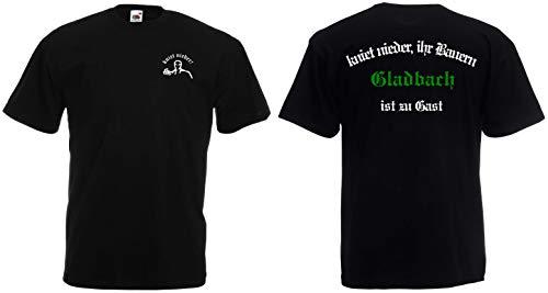 Gladbach Herren T-Shirt Ultras kniet nieder.