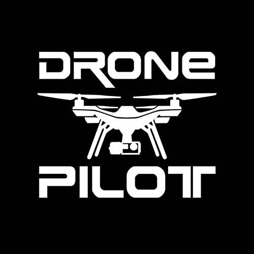 3 Pezzi Adesivi per Auto 14,6 cm * 11,9 cm Drone Pilot Divertente Adesivo Decalcomania per Auto, Laptop, Porte o pareti Ideale per Camper-Bianco