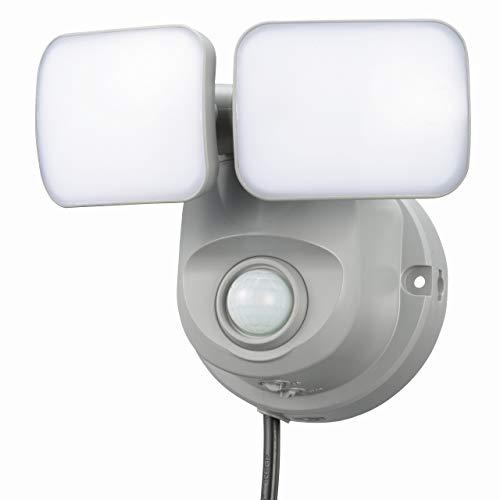 オーム電機(Ohm Electric) センサーライト OSE-LS800 セキュリティ グレー 本体: 奥行11.9cm 本体: 高さ13.1cm 本体: 幅15.7cm