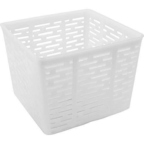 Browin 411313 411313-Molde Cuadrado (11 x 11 x 8,5 cm, casa, Laboratorio, feta, Queso y Ricotta), Blanco, für 500 g