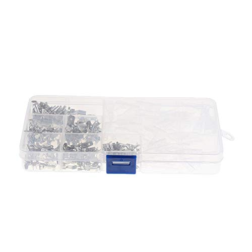 CSQIANG 270 piezas adecuadas para terminales de crimpado de 2,8/4,8/6,3 mm macho y hembra