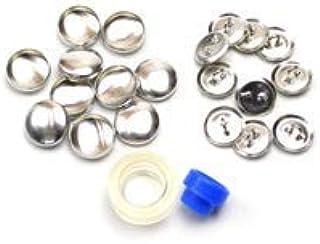 くるみボタンキット 包み つつみ パーツ (打ち具付) 16mm 10組入 (足付きタイプ) 3パッケージセット
