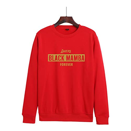 Bryant Ropa Conmemorativa Nueva Casual Suelto Hombres y Mujeres Forro Polar Cuello Redondo Suéter Suéter Jersey Moda Chaqueta Jersey Rojo XXS