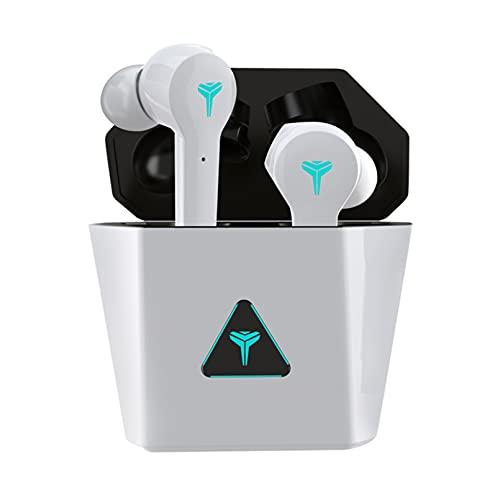 ZJ Auriculares inalámbricos Bluetooth TWS Mini Auriculares para Juegos Auriculares inalámbricos para Juegos 5.0TWS Auriculares con cancelación de Ruido(Color:D)