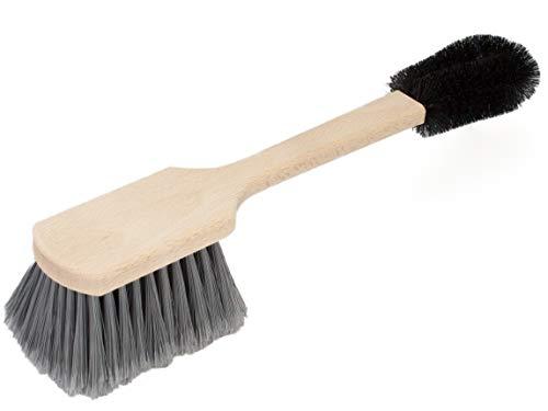 Premium Felgenbürste/Radbürste von BÜMAG - Reinigungs- / Wasch-Bürste für schnelle, effektive und schonende Reinigung von Alufelgen, als Ergänzung zum Autoschwamm, Waschhandschuh und Felgenreiniger