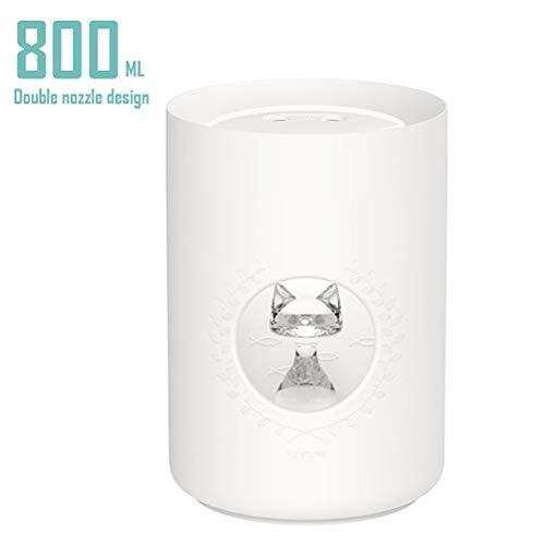 LuxTai Aromatherapie etherische olie Diffuser Double Nozzle Ontwerp 800ml Aroma Diffuser Met Timer Ultrasoon luchtbevochtiger for grote kamer, huis, slaapkamer van de baby (Color : White)