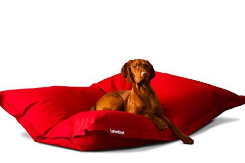Hundekissen aus leicht abwaschbaren Material für große & kleine Hunde | Hundesofa Hundebett Schlafplatz Ruheplatz Hundematratze 320L / 140x180cm Rot