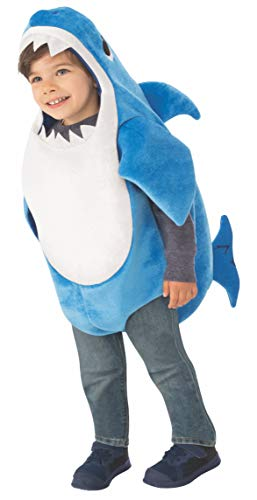 Rubies Disfraz oficial de tiburón de papá para niños, reproduce la melodía de tiburón bebé, talla de niños de 6 meses a 1 año