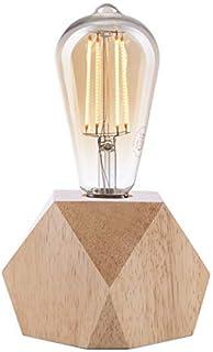 Lampe à Crown LED   Lumière vintage alimentée par batterie   Style rétro Industriel   Couleur : chêne clair   Portative et...