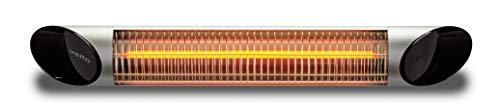Chauffage Infrarouge IRM Onde Moyenne Veito Blade, Filament Carbone, télécommandé sur Plusieurs Puissance de Chauffe, étanche (2500 Watt en Gris)