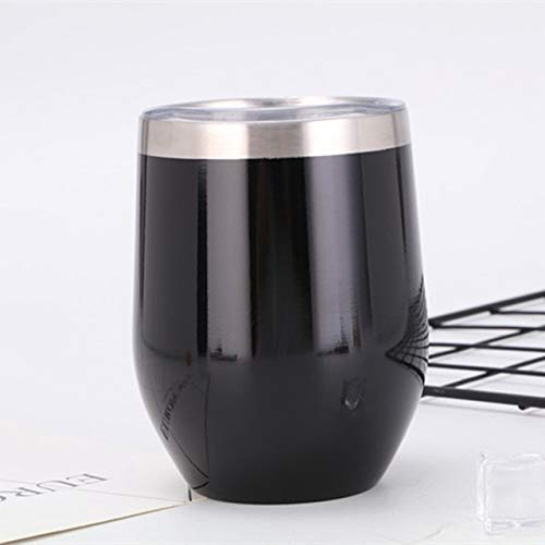 Vacuüm roestvrij staal wijnglas dubbele isolatie zonder wijnglas hoge capaciteit voor warme en koude dranken, wijn, koffie champagne 0 Zwart
