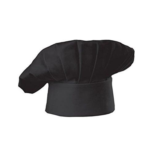 PIXNOR Restaurante de cocina de chef tapa sombrero gorro de cocinero para restaurante cocina BBQ - champiñon estilo (negro)