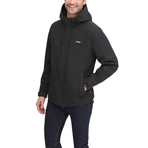 Levi's Men's Trucker Jacket Outerwear, -Hybrid Hoodie/indigo, M