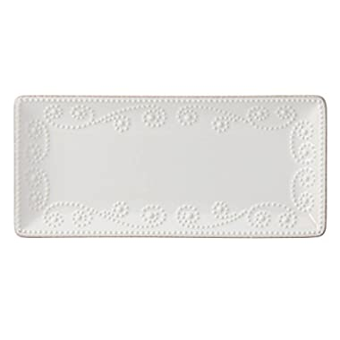 Lenox French Perle Rectangular Tray, White