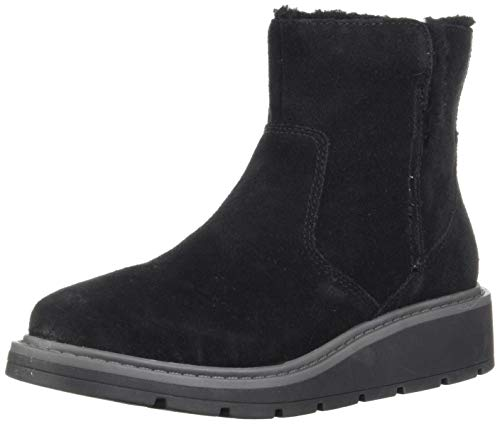 Clarks Women's Ivery Opal Ankle Boot, Black Warm Lined Suede, 110 M US