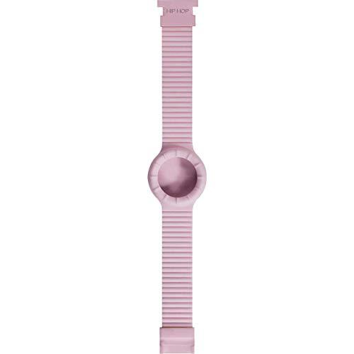 Hip Hop Cinturino Intercambiabile per Orologio da Donna per Cassa da 32 mm Colore Rosa Chiaro in Silicone Morbido Resistente all'Acqua HBU0007