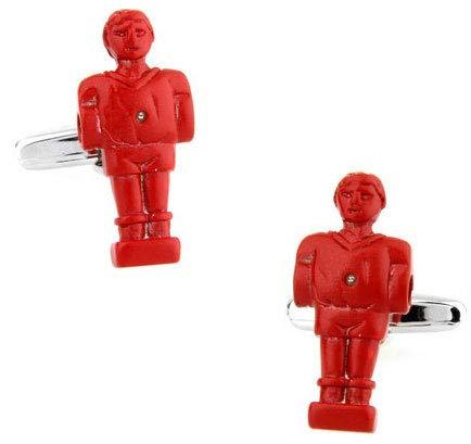 Gemelolandia   Gemelos de Camisa Muñeco Futbolin Rojo Gemelos Originales Para Camisas   Para Hombres y Niños   Regalos Para Bodas, Comuniones, Bautizos y Otros Eventos
