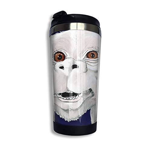 Hdadwy Taza de café de acero inoxidable - Falkor Camisa de disfraz de historia interminable Taza de vaso de acero inoxidable al vacío con aislamiento Taza de viaje de café de 13.5 oz