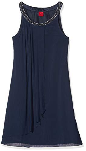 s.Oliver Mädchen 73.911.82.2916 Kleid, Blau (Dark Blue 5952), 152 (Herstellergröße:152/REG)