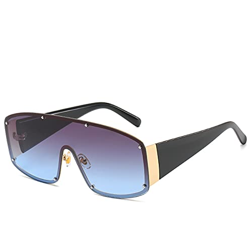 Gafas de sol polarizadas para hombre y mujer, para deportes al aire libre, pesca, ciclismo y correr, gafas de sol anti-ultravioleta, Dorado/Gris Azul,