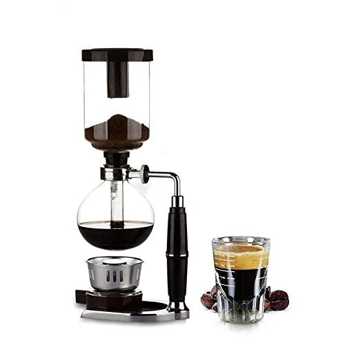 HYCy Cafetera Japonesa, Taza de café con sifón, Recipiente de Vidrio Resistente a Altas temperaturas, máquina de café de manivela