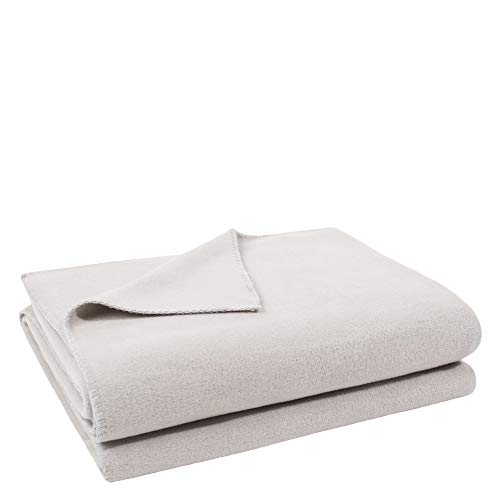 Soft-Fleece-Decke – Polarfleece-Decke mit Häkelstich – flauschige Kuscheldecke – 160x200 cm – 090 clay – von 'zoeppritz since 1828', 103291-090-160x200