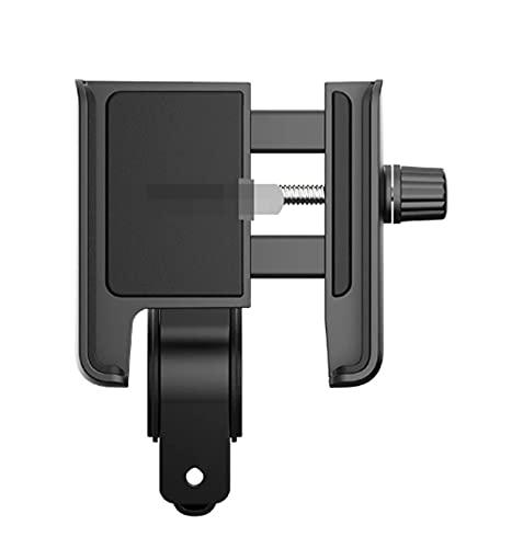 CML Soporte de teléfono FIT para Scooter ELÉCTRICO NINEBOT MAX G30 Monillar Manguámero Teléfono GPS Titular de Silicona Accesorios (Color : Black)